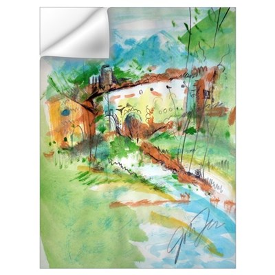 Watercolor Landscape Wall Decal