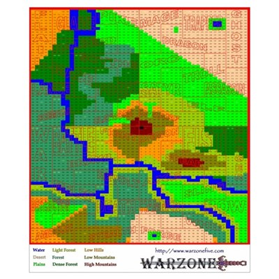 Warzone Map Poster
