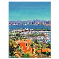 View of San Diego Framed Print