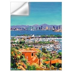 View of San Diego Wall Decal