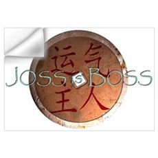 "Joss is Boss ""I-Ching coin"" Wall Decal"