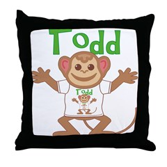 Little Monkey Todd Throw Pillow