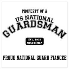 Proud National Guard Fiancee Poster