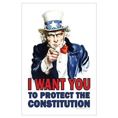 to Protect the Constitution Framed Print
