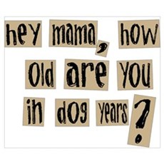 How old are you in dog years Poster