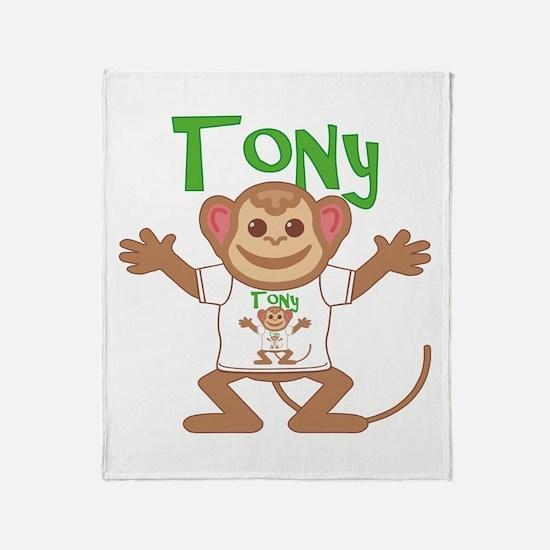 Little Monkey Tony Throw Blanket