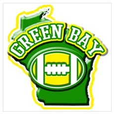 Green Bay Football Canvas Art