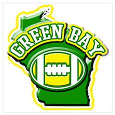 Green Bay Football Poster