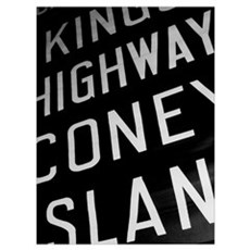 Kings Hwy Coney Island Framed Vintage Sign Photo Poster