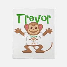 Little Monkey Trevor Throw Blanket