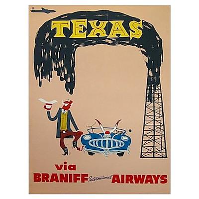 Framed Braniff Airways Print Poster