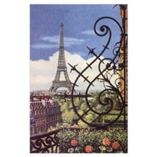 VIEW OF EIFFEL TOWER * Poster