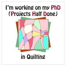 Quilting PhD Framed Print