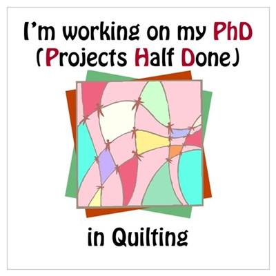 Quilting PhD Canvas Art