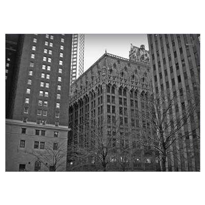 Pittsburgh Architecture B/W Poster
