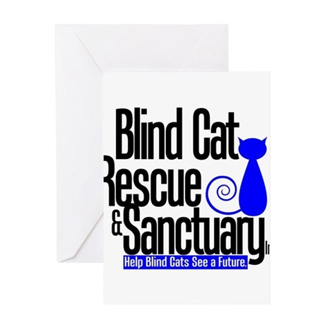 Blind Cat Rescue & Sanctuary Greeting Card