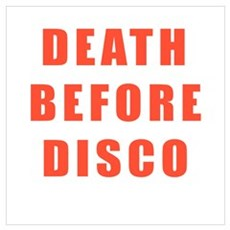Death Before Disco Framed Print