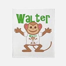 Little Monkey Walter Throw Blanket