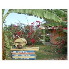 Jerk Chicken Stand Negril Jamaica Poster