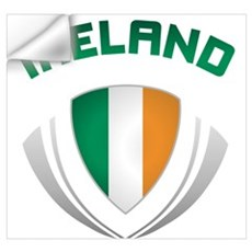 Soccer Crest IRELAND Wall Decal
