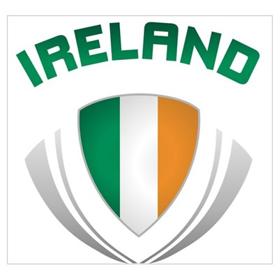 Soccer Crest IRELAND Canvas Art