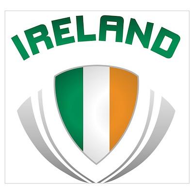 Soccer Crest IRELAND Poster