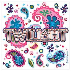 Twilight Retro Paisley Poster