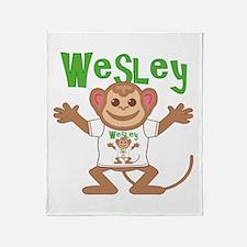 Little Monkey Wesley Throw Blanket