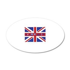 Flag UK 22x14 Oval Wall Peel
