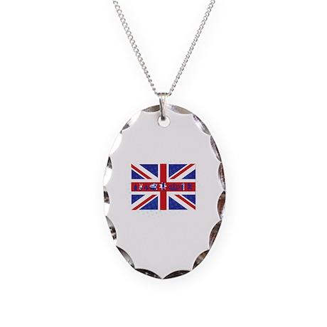 Flag UK Necklace Oval Charm