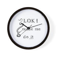 Loki made me do it Wall Clock
