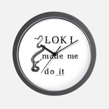 Loki made me do it Wall Clock