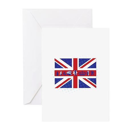 Flag UK Greeting Cards (Pk of 10)