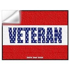 Veteran Flag Banner Wall Decal