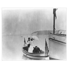 Lady in a Dinghy Poster