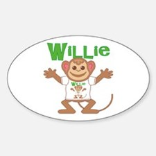 Little Monkey Willie Sticker (Oval)