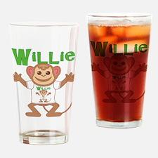 Little Monkey Willie Drinking Glass