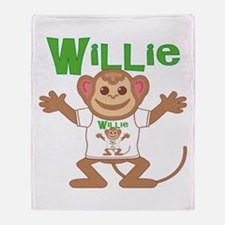 Little Monkey Willie Throw Blanket