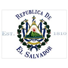 El Salvador Independence Framed Print