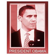 OBAMA SHOPS: Poster