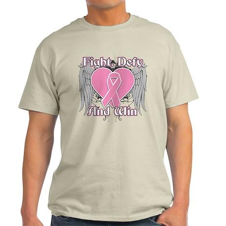 Fight Defy Win Breast Cancer Light T-Shirt
