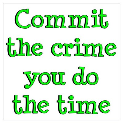 Commit the crime Poster