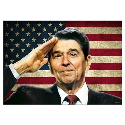 Reagan Salute... Poster