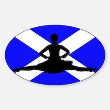 Scotland Leap Sticker (Oval)