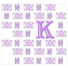 "Monogrammed ""K"" Poster"
