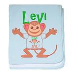 Little Monkey Levi baby blanket