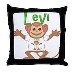 Little Monkey Levi Throw Pillow