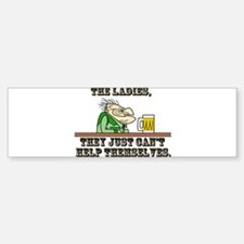 The Ladies, They Just Can't H Bumper Bumper Sticker