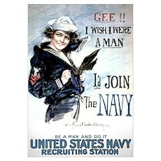 I Wish Navy Poster