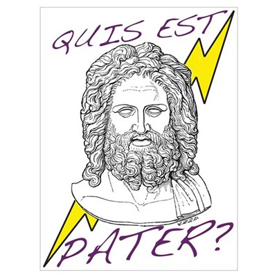 Quis est Pater? (Who's Your D Framed Print